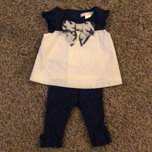 Janie and Jack girls set top with leggings
